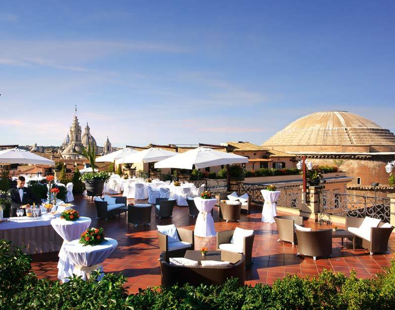 5 Star Luxury Hotel In Rome Banqueting Grand Hotel De