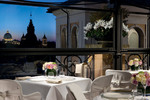 Minerva Roof Garden  Restaurant - St. Peter's view